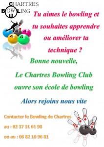 ecole de bowling affiche